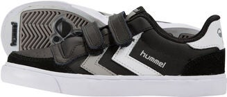 Hummel Stadil Jr Leather Low Sneaker, Black/White/Grey