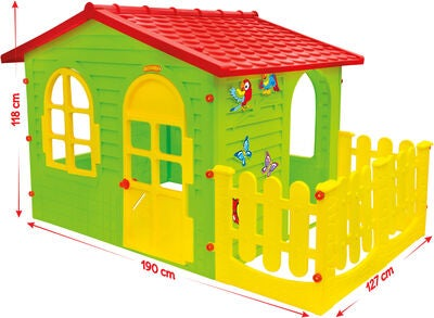 Elite Toys Lekstuga Trädgårdshus XL Med Staket