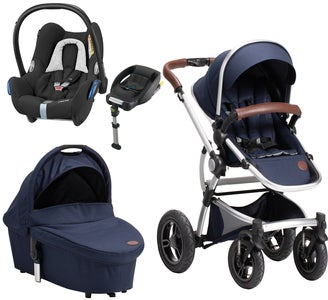 Petite Chérie Lively 2 Duovagn, Navy Melange + Maxi Cosi Travelsystem