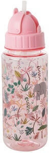 Rice Vattenflaska Jungle Animals, Pink