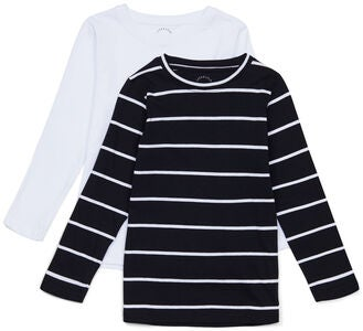 Luca & Lola Nario Långärmad T-Shirt 2-pack, Black Stripes