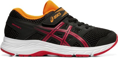 Asics Contend 5 PS Sneaker, Black/Speed Red