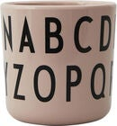 Design Letters Eat & Learn ABC Mugg Melamin, Nude