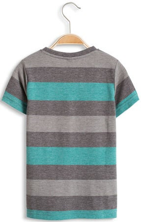 ESPRIT T-Shirt Stripe, Light Aqua Green