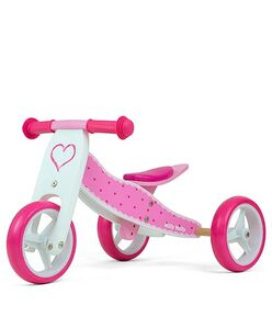 Milly Mally Springcykel 2in1 Jake Hearts, Rosa