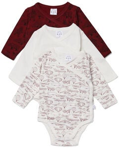 Luca & Lola Alexie Body 3-pack, Red