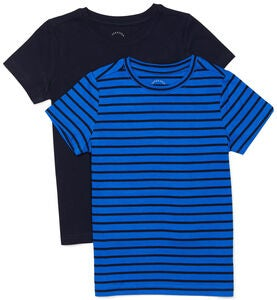 Luca & Lola Adolfo T-Shirt 2-pack, Blue Stripes