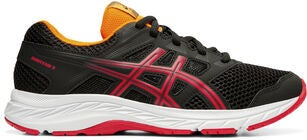 Asics Contend 5 GS Sneaker, Black/Speed Red