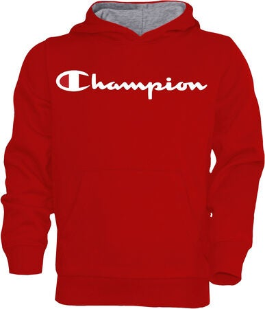 Champion Kids Hoodie, True Red