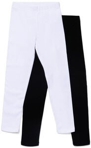 Luca & Lola Venetia Långa Leggings 2-Pack, Black/White