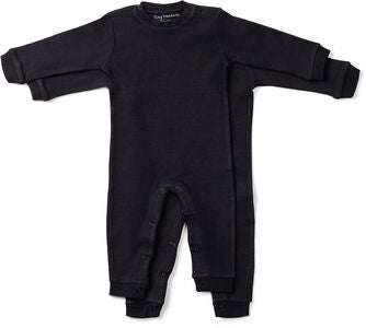 Tiny Treasure Maxime Jumpsuit  2-Pack, Black