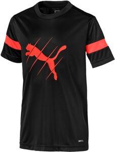 Puma Play Logo T-Shirt, Black/Red