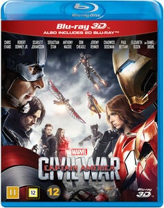 Marvel Avengers Captain America Civil War Blu-Ray 2D + 3D