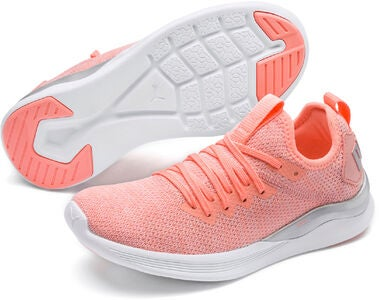 Puma Ignite Flash Evoknit Metallic Jr Sneaker, Pink