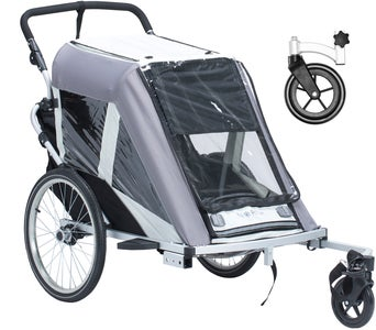 North 13.5 Roadster+ Med Stroller Wheel Och Regnskydd, Grå