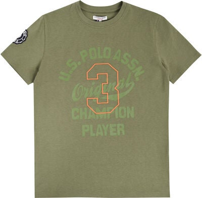 U.S. Polo Assn. Champion Player T-Shirt, Light Olive