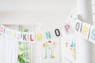 Littlephant Vimpel Alphabet on a String