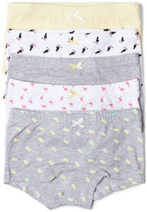 Luca & Lola Stefania Boxertrosa 5-pack, Grey/Yellow