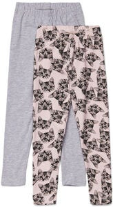 Luca & Lola Agata Leggings 2-pack, Grey Melange/Cats