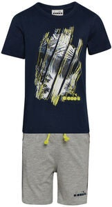 Diadora Set T-Shirt & Shorts, Blue Corsair