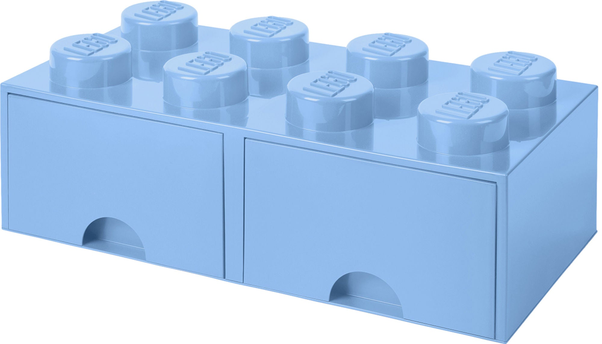 LEGO Förvaring med låda 8, Ljusblå