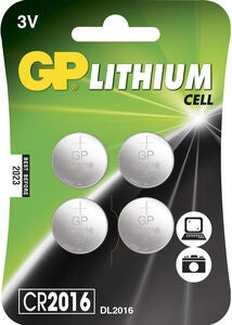 GP Batterier Knappcell CR2016 4-pack