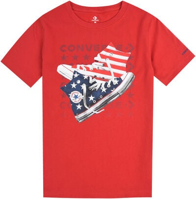 Converse Americana Shoes T-Shirt, Enamel Red