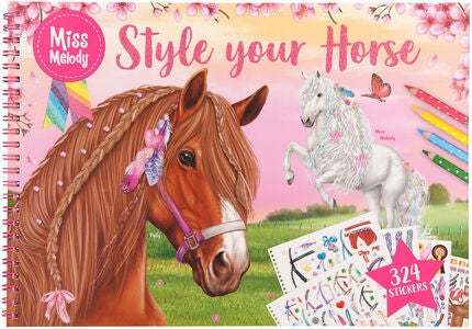 Miss Melody Målarbok Style Your Horse