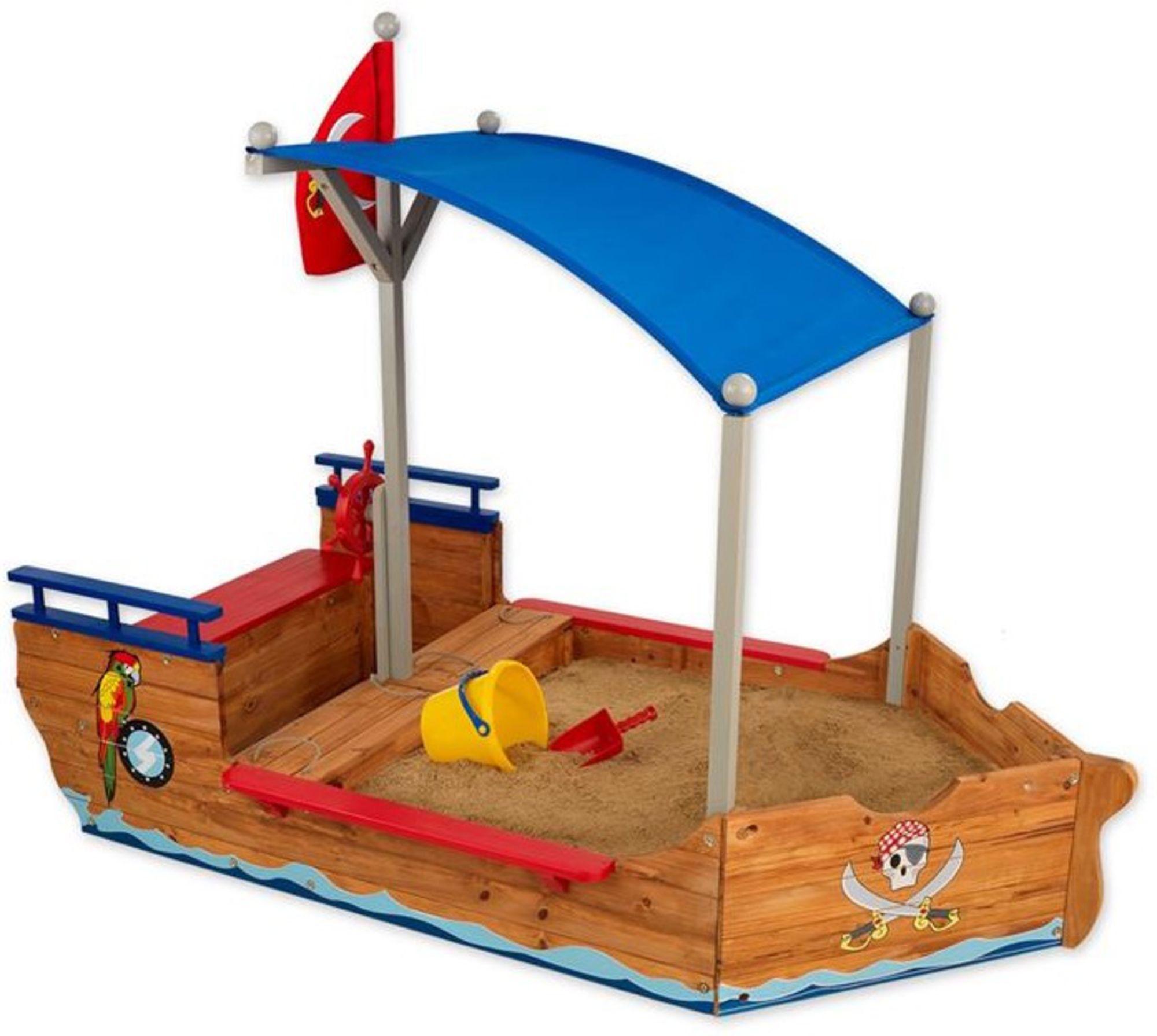 Kidkraft Sandlåda Med Tak Piratbåt