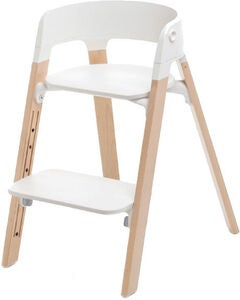 Stokke Steps™ Barnstol, White/Natural