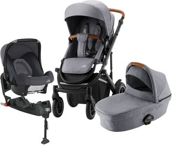 Britax Römer Smile 3 Duovagn Inkl Baby-Safe Travelsystem, Frost Grey Brown