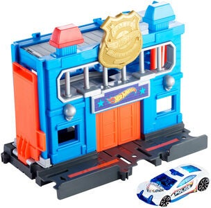 Hot Wheels City Downtown Lekset Police Station Breakout