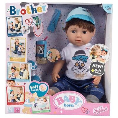 Baby Born Docka Soft Touch Brother, 43 cm