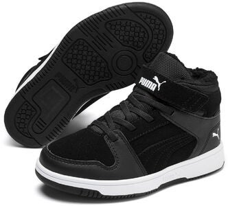 Puma Rebound Lay Up Fur PS Sneaker, Black