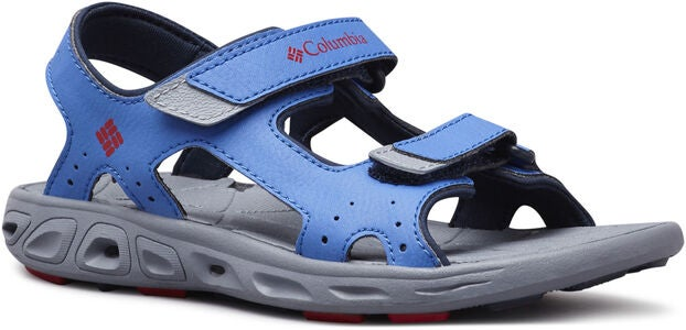 Columbia Youth Techsun Sandal, Stormy Blue/Red