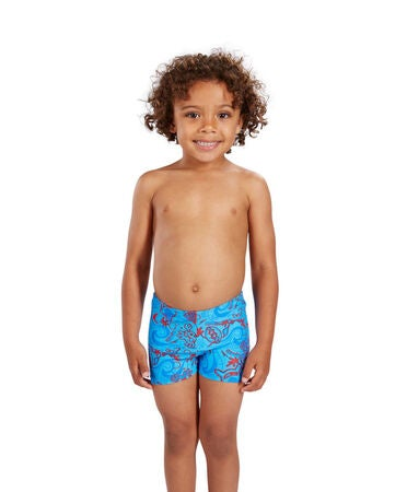 Speedo Seasquad Aquashort Infant Shorts, Blue/Red