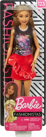 Barbie Fashionistas Docka 123 Rock and Red