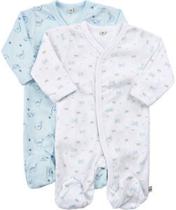 Pippi Jumpsuit 2-Pack, Light Blue