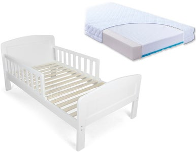 JLY Dream Juniorsäng med BabyMatex Carpathia Madrass 70x140, Vit