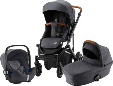 Britax Smile III Duovagn Inkl BABY-SAFE² i-SIZE Babyskydd, Midnight Grey