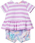 Tom Joule Set Top & Shorts, Mauve Stripe