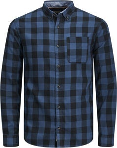PRODUKT Graham Check Skjorta, Blue Wing Teal