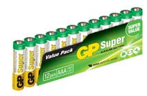 GP Batterier AAA LR03 Super 12-pack