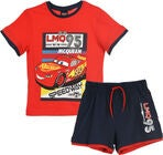 Disney Cars T-Shirt & Shorts, Röd