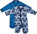 Pippi Pyjamas 2-pack, Blue
