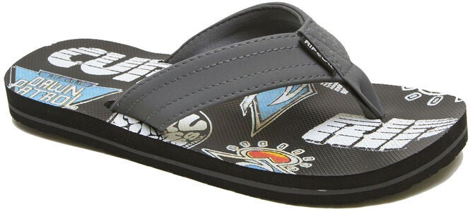 Rip Curl Ripper Kids Flip Flop, Grey