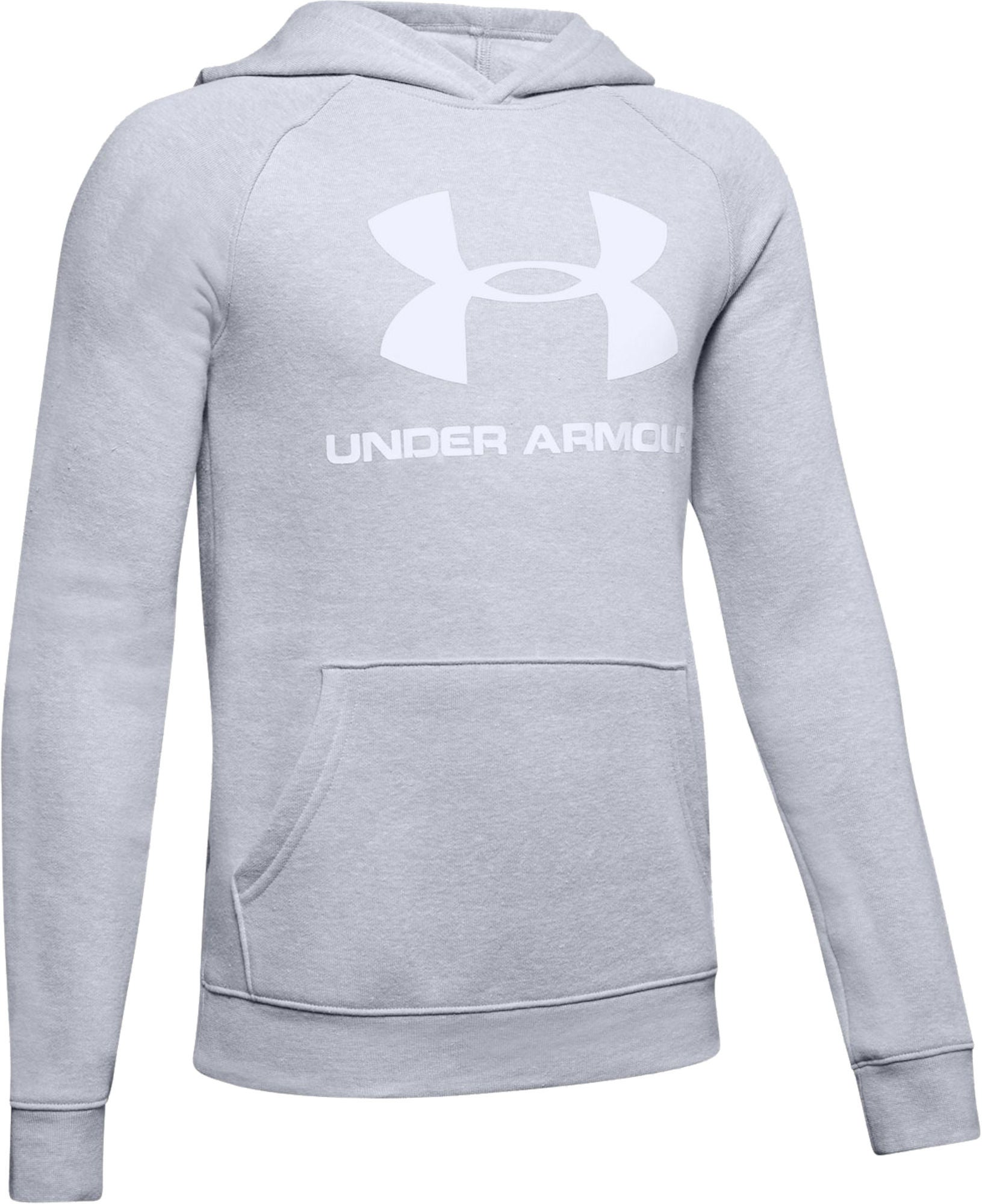 Under Armour Rival Logo Hoodie, Stealth Gray S