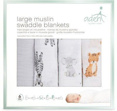 Aden by Aden + Anais Muslinfilt Swaddle 4-pack