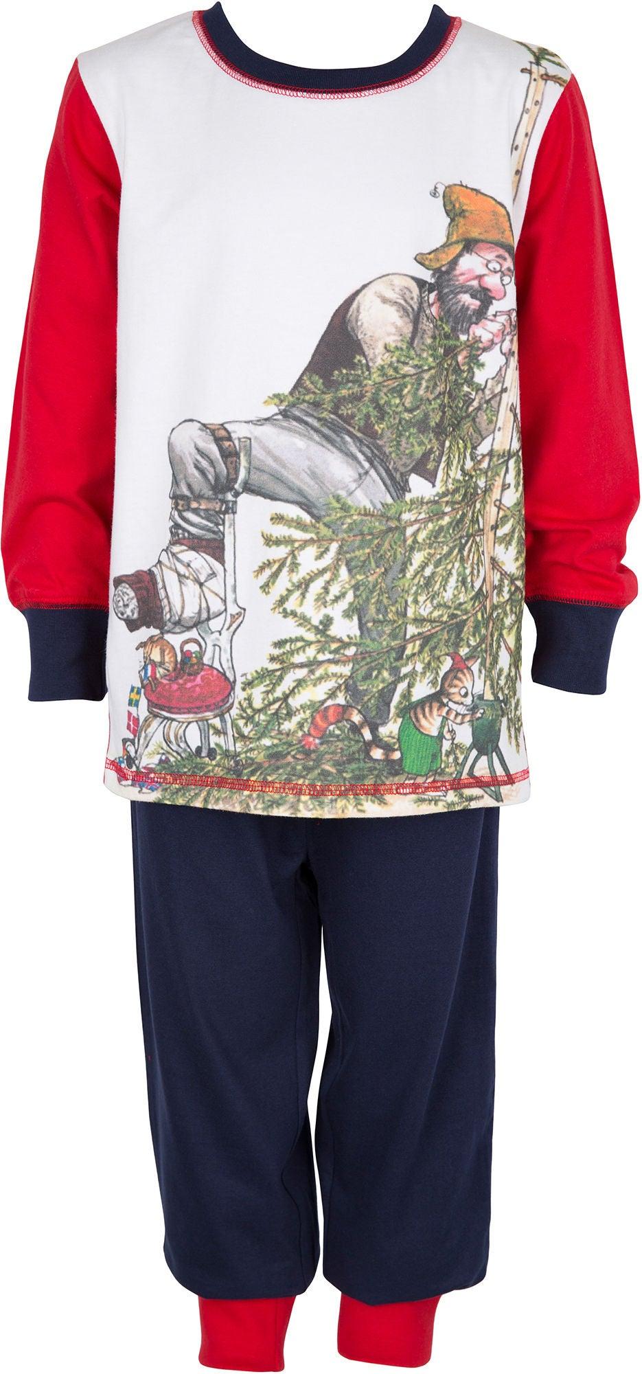 Pettson och Findus Pettson & Findus Pyjamas, White/Red/Navy 92