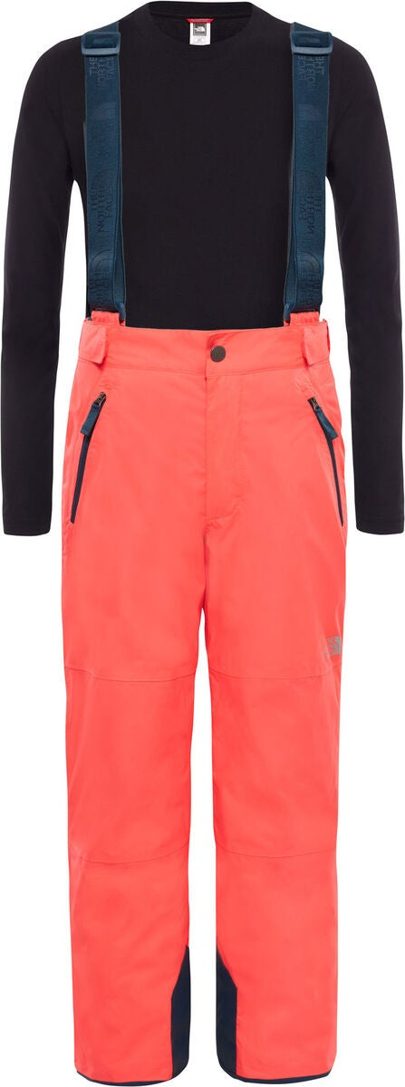 The North Face Snowquest Suspender Plus Byxa, Rocket Red